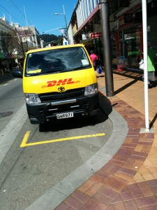 DHL-Auto in Wellington